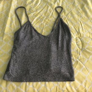 One size grey Brandy Melville cropped tank
